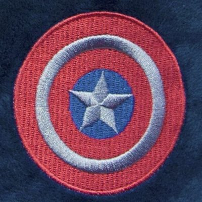 Captain America slippers Close up Logo