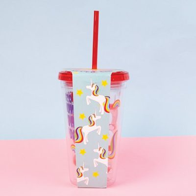 Fizz Creations Unicorn Straw Mug