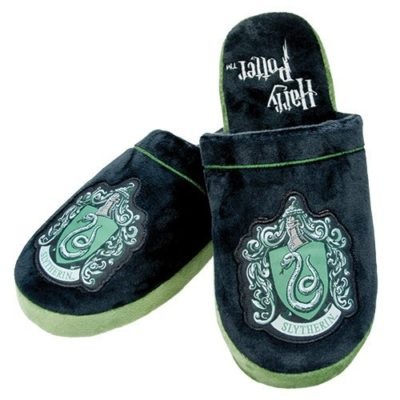 Mens Harry Potter Slytherin Mule Slippers
