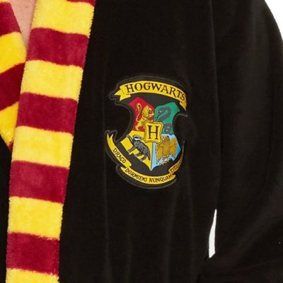 Harry potter Mens Fleece robe close up