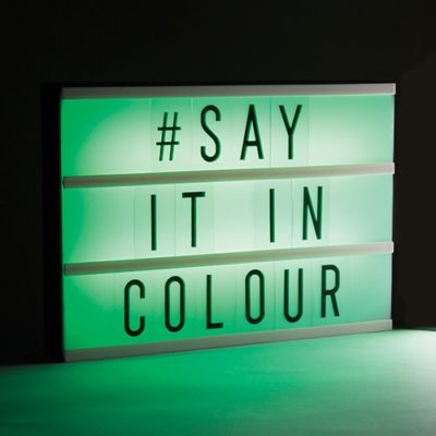 Fizz Creations A4 Colour Changing Message Board Green