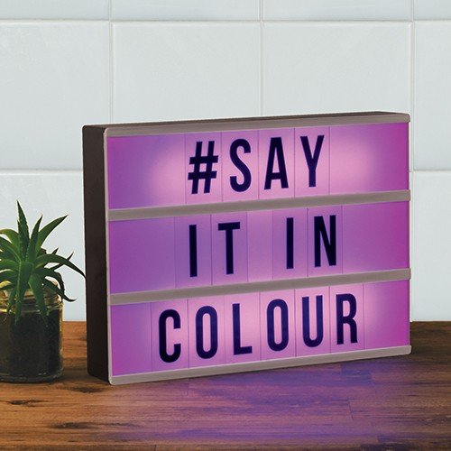 Colour Changing Light Up Message Board Fizz Creations