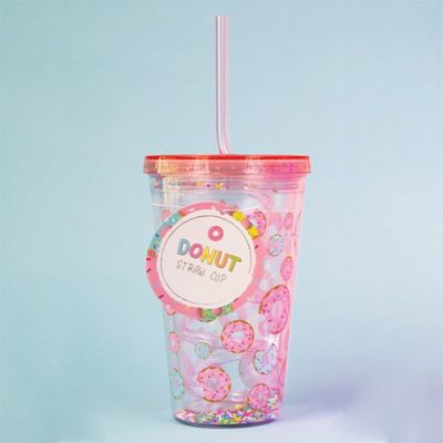 Fizz Creations Donut Straw Cup
