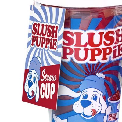 Fizz Creations Slush Puppie straw cup label