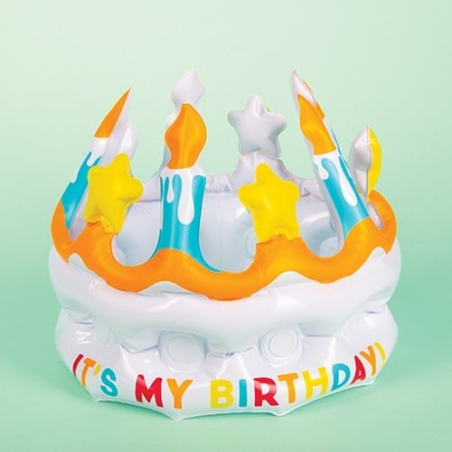Stupendous Inflatable Its My Birthday Crown Fizz Creations Personalised Birthday Cards Bromeletsinfo