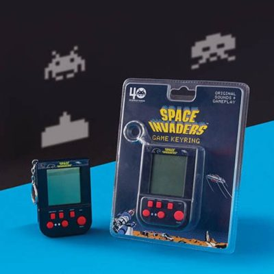 Fizz Creations Space Invaders keyring game and packaging