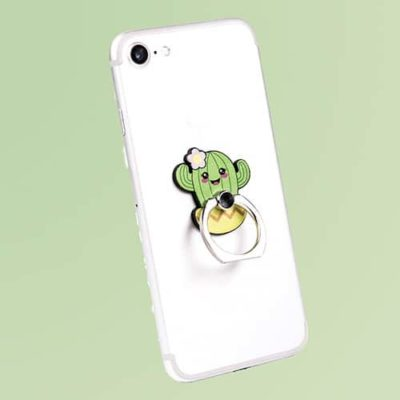 Fizz Creations Kawaii Cactus Phone Ring on phone
