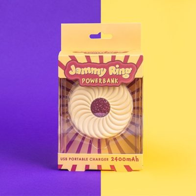 Fizz Creations Jammy dodger ring biscuit power bank