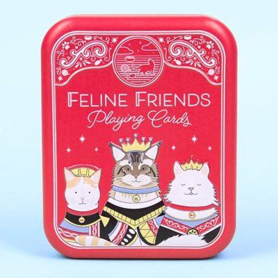 Fizz Creations Feline Friends Cat Playing Cards in a Tin