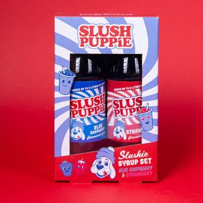 Fizz Creations Slush Puppie Syrups Blue Raspberry and Red Cherry