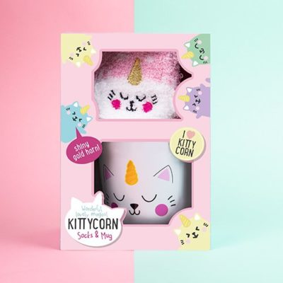 Fizz Creations Kittycorn Mug & Sock Gift Set