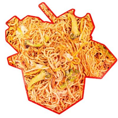 Double sided novelty jigsaw puzzle noodle design