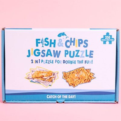 Fizz Creations Novelty Double Sided Fish & Chips Puzzle