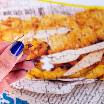 Fizz Creations Novelty Jigsaw Puzzle Fish and chips takeaway