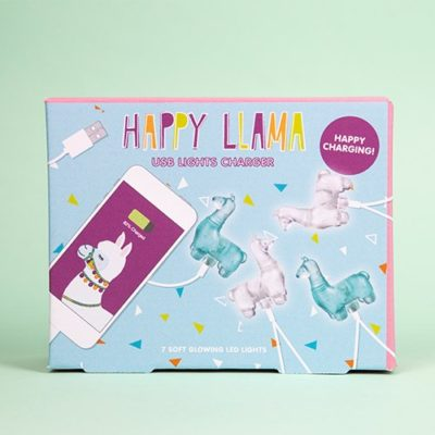 Fizz Creations Happy Llama Phone Charger Lights