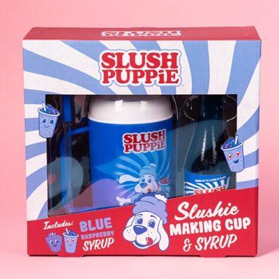 Slush Puppie Making Cup with Blue Raspberry