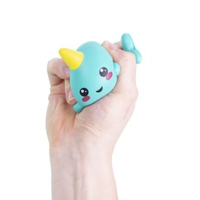 Fizz Creations Narwhal Stress Ball in hand