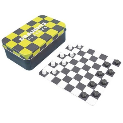 Fizz Creations Magnetic Draughts Travel Game in tin