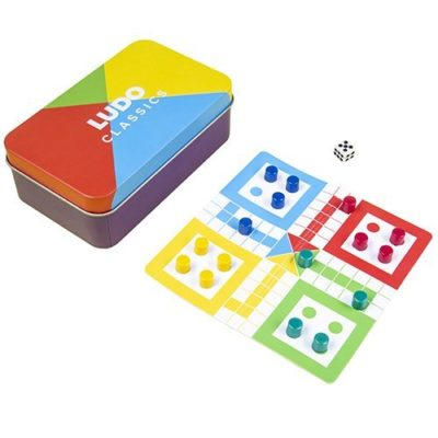 Fizz Creations Magnetic Ludo Travel Game in Tin