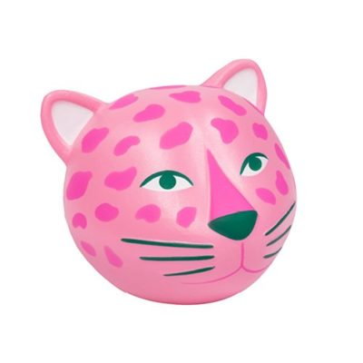 Hyper jungle pink leopard stress ball