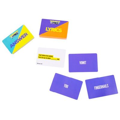 Complete the Lyrics Cards