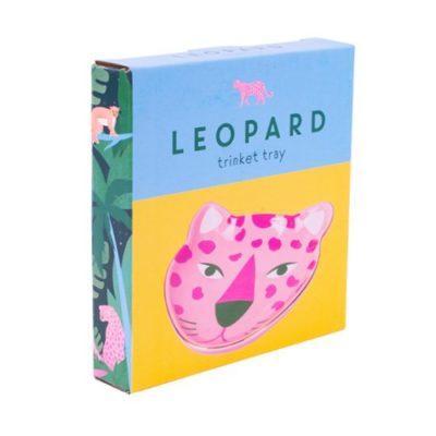 Leopard trinket tray packaging