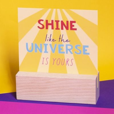 Fizz Creations Positive Vibes Message Block