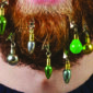 Fizz Creations Christmas Beard Decorations on a beard