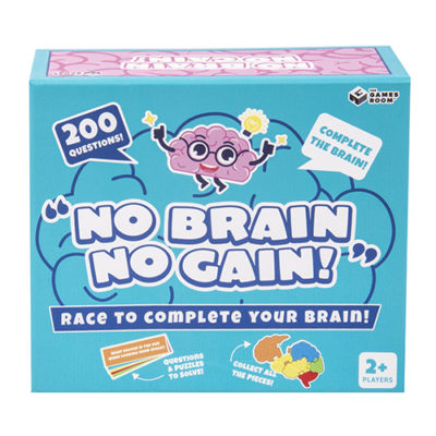 Fizz Creations No Brain No Gain Packaging Front