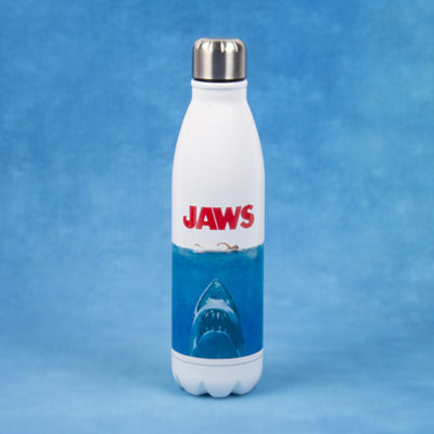Fizz Creations Jaws Metal Water Bottle Background