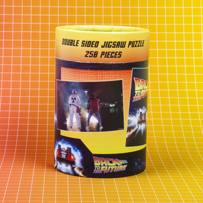 Fizz Creations Back To The Future Puzzle Packaging Back Background