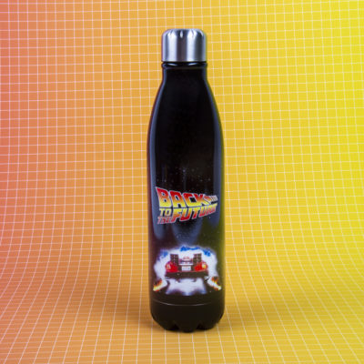Fizz Creations Back To The Future Water Bottle Front Background