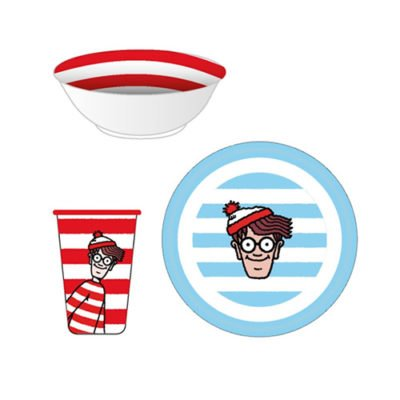 Fizz Creations Where's Wally? Dinnerware set contents
