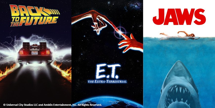Fizz Creations Back to the Future E.T. and Jaws collection