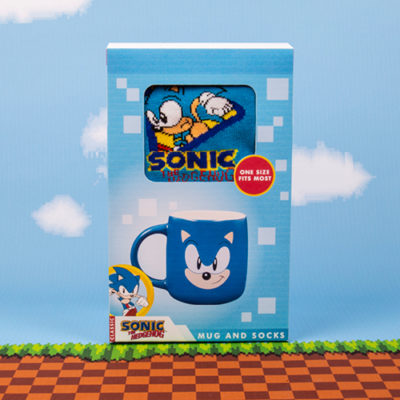 Fizz Creations Sonic Mug and Sock Set Packaging
